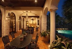 spanish style back porch...