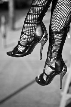 high heels.