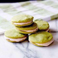 Green Tea Cookie Sandwiches