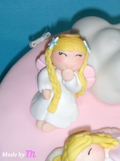 Made By M - Angel Cake Topper  FONDANT TUTORIALS AND TOPPERS:  http://pinterest.com/miksmc/fondant-tutorials-and-toppers/
