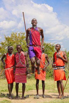 Met the indigenous Masai Tribe in Kenya, Africa: 2003
