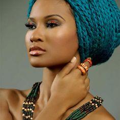 wrap, gorgeous, goddesses, hair life, makeup, african beauti, beautyfrom head, beauti black, eyes