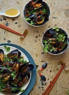 Mmmm Sake mussels #KatrinaMeynink #KitchenCoquette