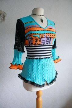 Upcycled sweater - love this one!