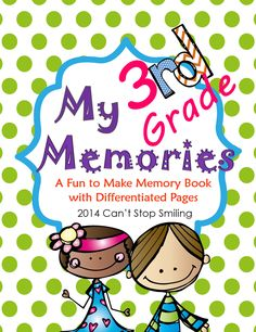 A Fun Memory Book for Third Graders with editable cover pages so you can add student photos $4