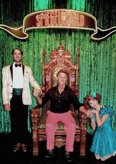 John Schneider was spotted attending ABSINTHE at Caesars Palace on Friday, Aug. 15, 2014 (Pictured: The Gazillionaire, John Schneider and Penny Pibbets - Photo credit: Joseph Sanders/Spiegelworld).