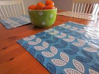 Wipeable and Reversible DIY Placemats