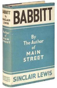 """""""Babbitt"""" by Minnesota's Sinclair Lewis."""