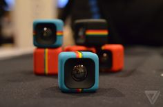 Polaroid unveils an adorable, tiny cube camera for action shots | The Verge gadget, action shot, cubes, tini cube, cube camera, polaroid c3, tech, design, cameras