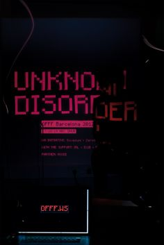 Unknown Disorder, Campaing for OFFF 2012 by www.lawebdelatelier.com and http://docecollective.com/