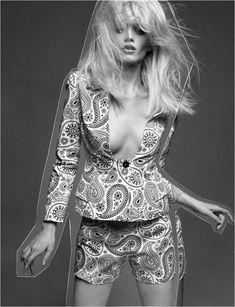 Abbey Lee Kershaw by Greg Kadel  ~  #BW #fashion #photography #editorial #pose #model #retro