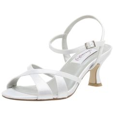 Dyeables Women's Melody Dyeable Sandal, (sexy, bridal, wedding, comfortable shoes, 1 in heel, 1 inch heel, coloriffics, shoes sandals, silver shoes)
