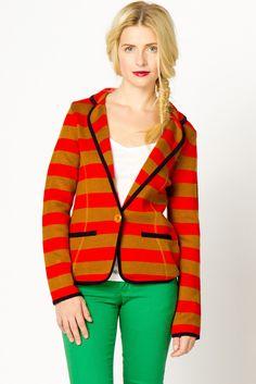 Striped Sweater Blazer