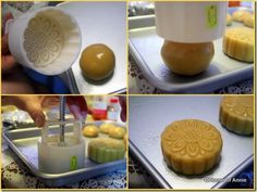 Pressing Traditional Mooncakes