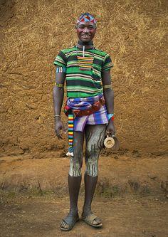 Bana Tribe man - Omo Valley, Ethiopia by Eric Lafforgue key