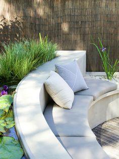 water gardens, contemporary garden design, patio garden design, garden patio design, outdoor room