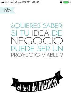 ¿Quieres saber si tu idea de negocio puede ser un proyecto viable? www.anahernandezs... #emprender #test