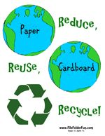 Free Reduce, Reuse, Recycle File Folder Game from File Folder Fun