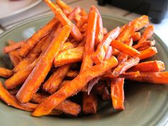 More sweet potato fries... and the arrowroot flour comes up again - must get some of that!