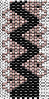 Peyote bracelet pattern with hearts.