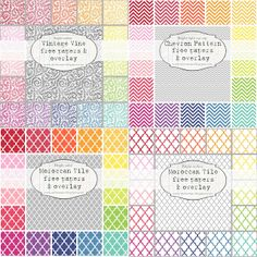 Mel Stampz: new Bright Patterned papers (chevron, moroccan tile, vine outline)