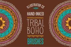 50 Boho - Tribal - Gypsy Ai Brushes by Marish on Creative Market