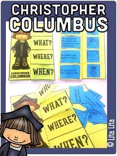 CHRISTOPHER COLUMBUS foldable English-Spanish