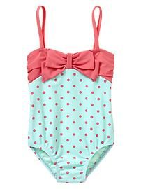 Dot bow one-piece. I see this in Makais near future! #baby