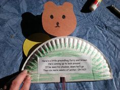 pop-up groundhog craft to do today! Mr.Phil the groundhog did not see his shadow- hurray for spring!