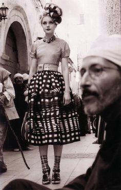 plaid . Prada skirt .