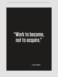 Work to become ...