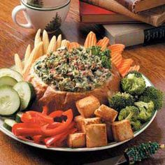 Baked Spinach Dip in Bread Recipe