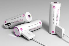 USB-rechargeable batteries.