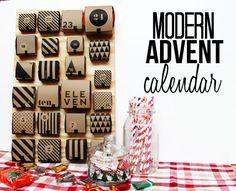 Modern Paper Advent Calendar