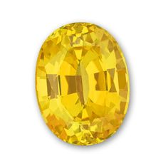 9x7mm Oval Gem Quality Chatham Cultured Lab-Grown Yellow Sapphire Weighs 2.21-2.70 Ct.