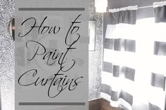 How To Paint Curtains With Stripes Tutorial