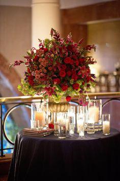 red florals.