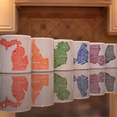 MapMyState Custom Typography Map Art on prints, mugs, tshirts and baby onesies!