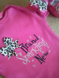 Hey, I found this really awesome Etsy listing at http://www.etsy.com/listing/129897961/new-baby-girl-onesie-and-shoes-shower
