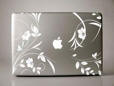 Lirenda Floral macbook decal mac decal macbook by williamandcindy. $12.99, via Etsy.