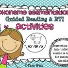 RTI  Guided Reading {Phoneme Segmentation Activities} 155 page packet!$