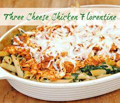 Three Cheese Chicken Florentine = Easy Dinner #kraftrecipemakers #shop