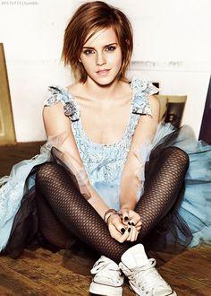 Emma Watson possible haircut after hair donation..
