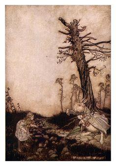 Alice's adventures in Wonderland  by  Arthur Rackham