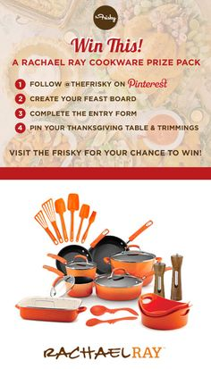 Win a Rachael Ray Cookware Prize Pack By Pinning Your Dream Holiday Table! #WinCookware
