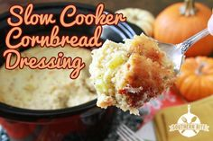 Make your Thanksgiving Cornbread Dressing in the Slow Cooker!