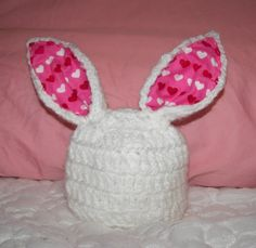 Some Bunny Loves Me Bunny Baby Hat photography prop by mandag433, $21.00