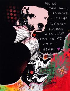 """Girl's Best Friend"" - Pit Bull (artwork by Dean Russo)  Falling in love with Dean Russo's work!"