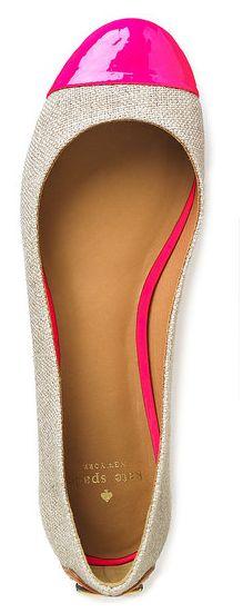 shoes, toe, fashion, color, pink, ballet flats, closet, spade flat, kate spade