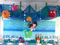 Fiesta infantil Sirenita 1 500x375 Fiestas infantiles inspiradas en La Sirenita